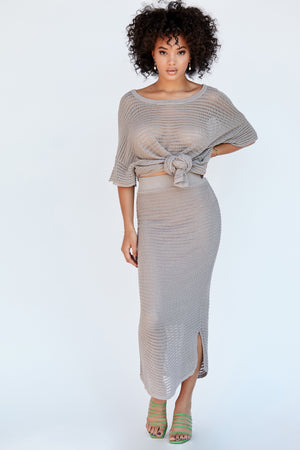 Genny Skirt - Dove Grey