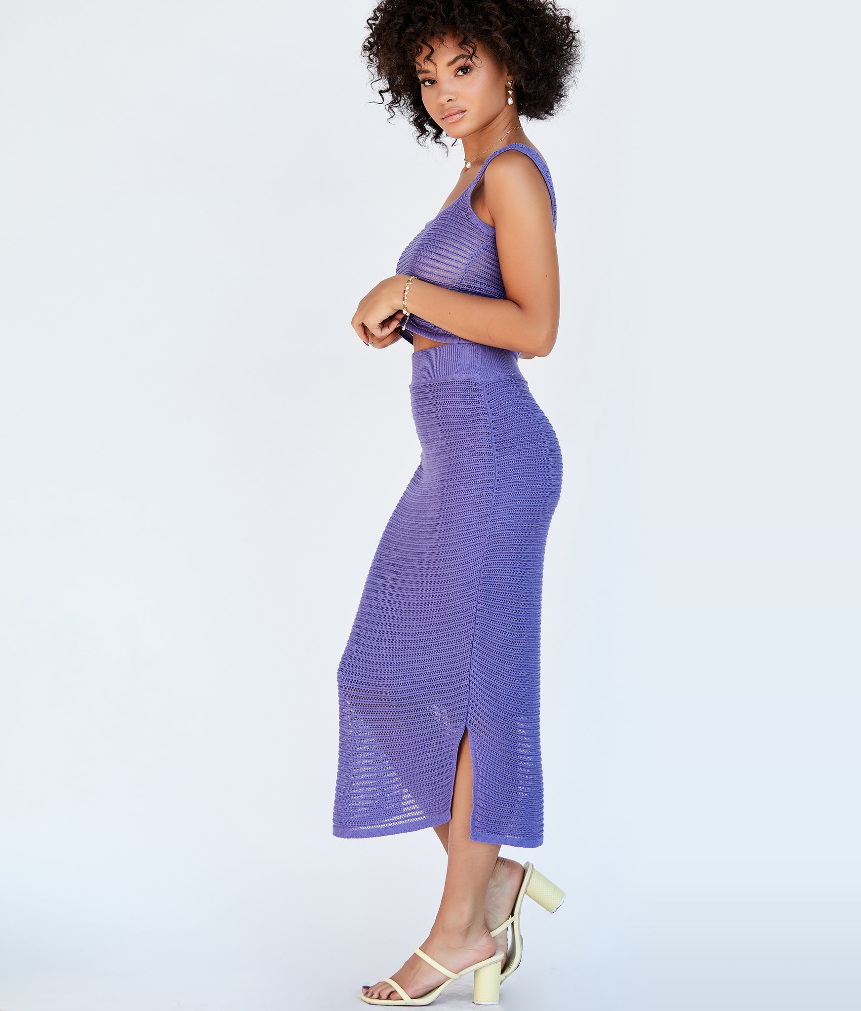 Genny Skirt - Electric Purple