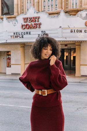 Ani Turtleneck - Oxblood