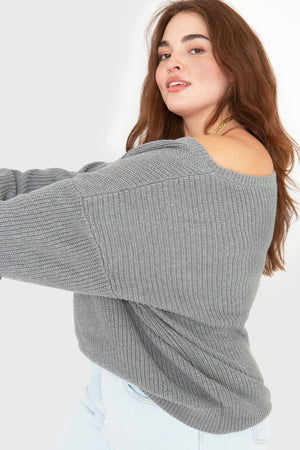 The Off Shoulder - Heather Grey