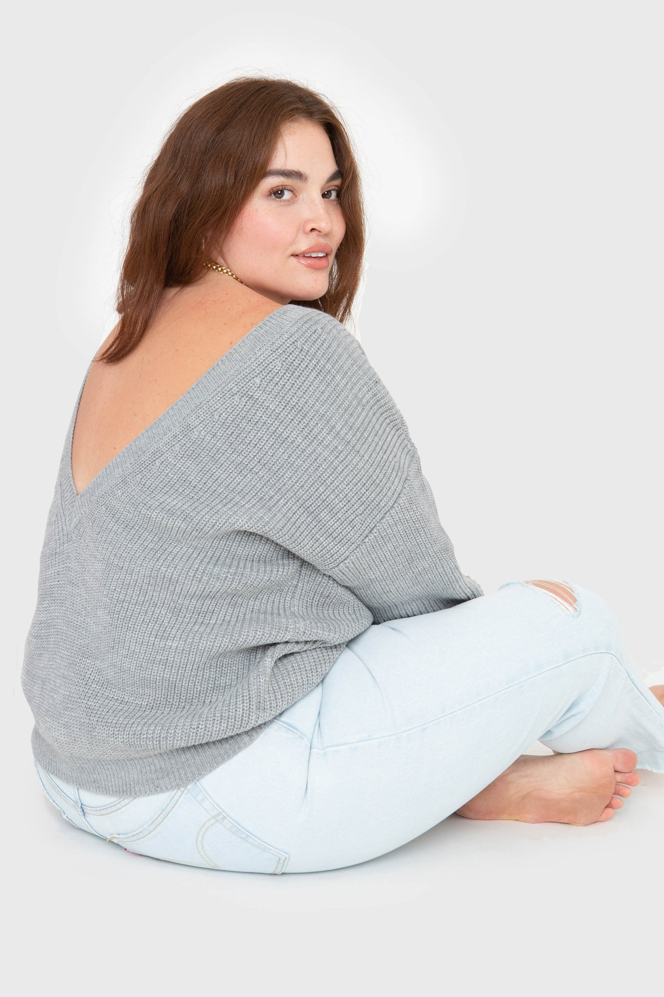 The V-Back - Heather Grey