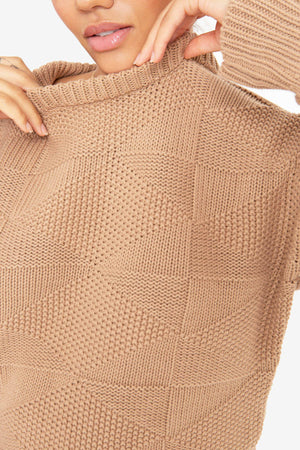 The Geo Knit - Camel