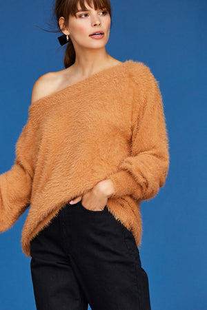 Finn Off The Shoulder Top - Meerkat