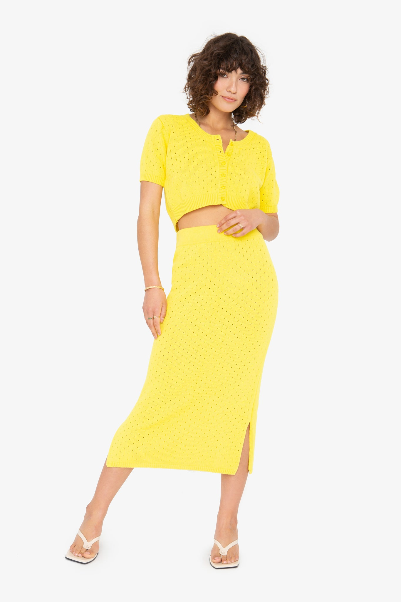 Genny Skirt - Lemon