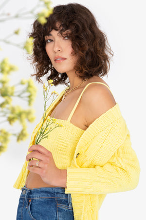 Lu Cardigan Set - Lemon