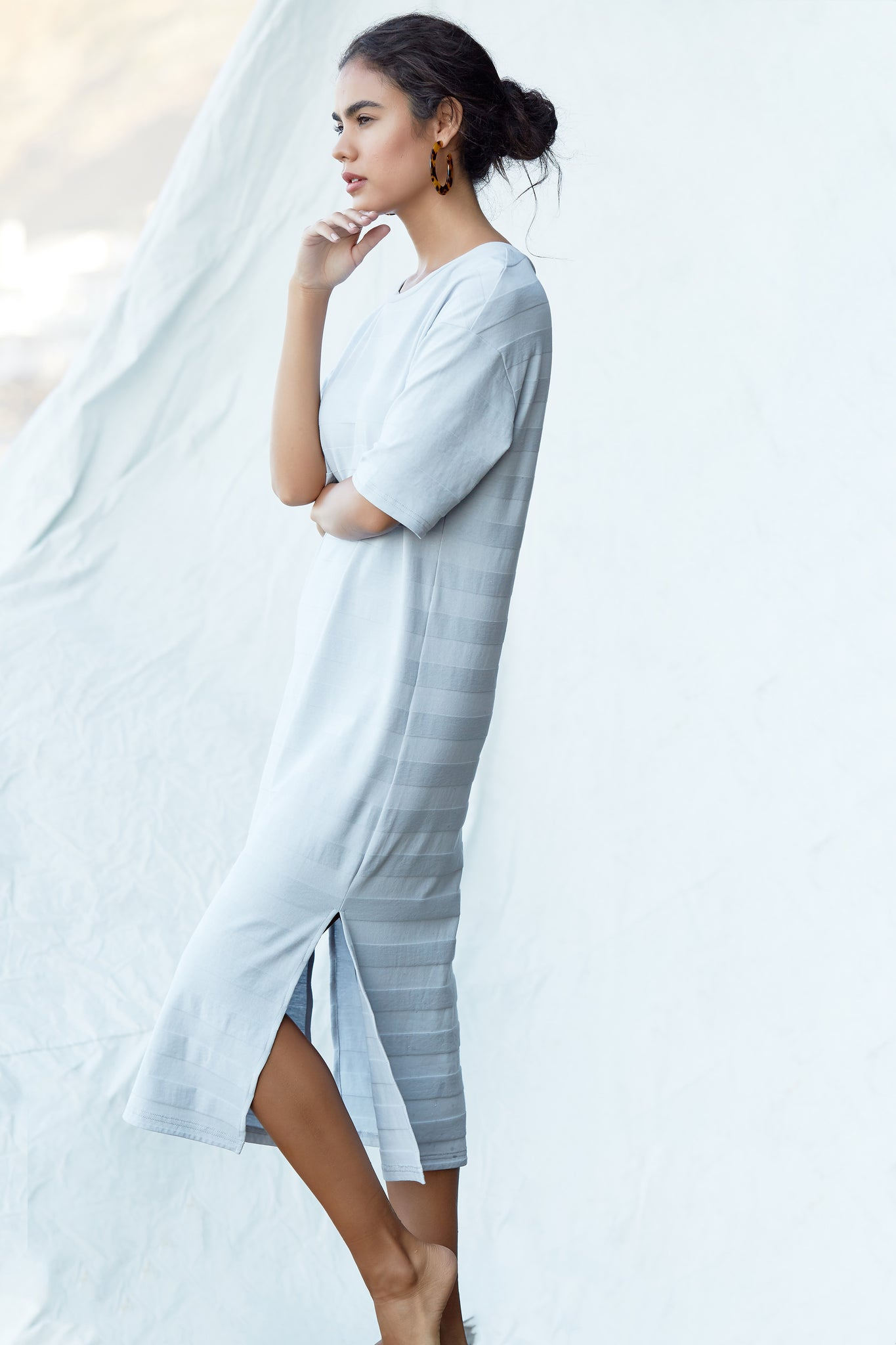 Moray Dress - Pale Blue