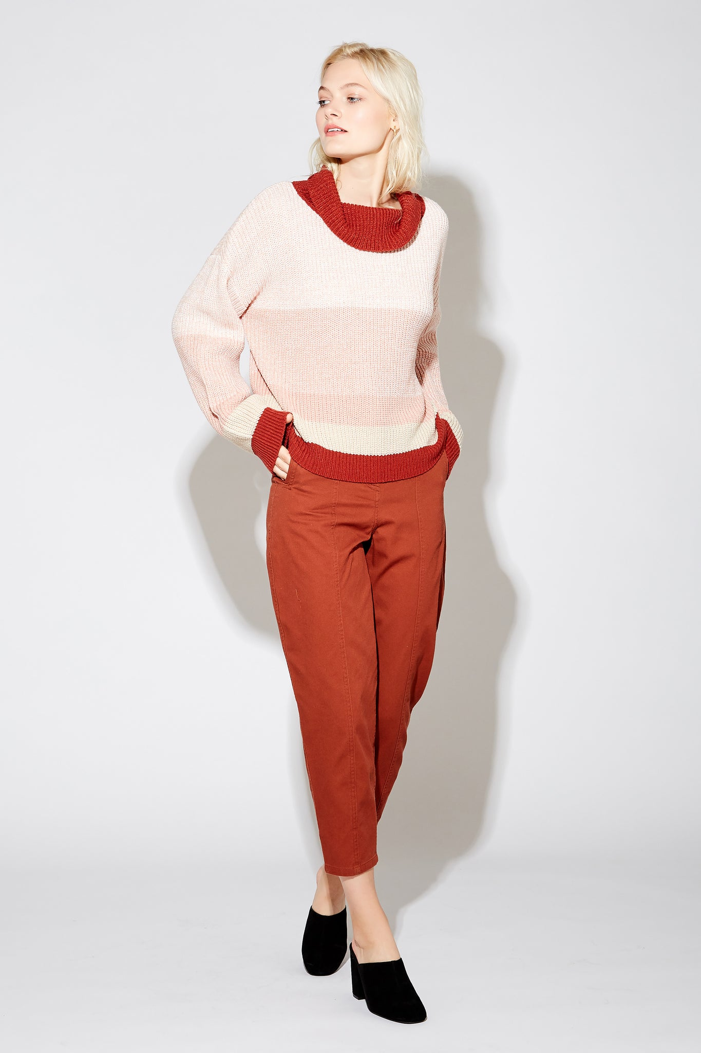 Nathalee Mock Sweater - Bossanova Multi