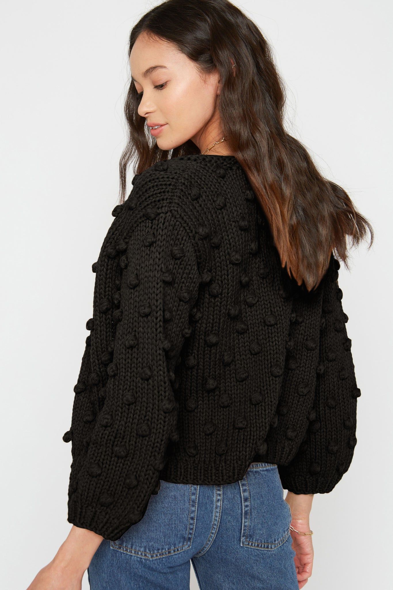 Rose Cardigan - Black