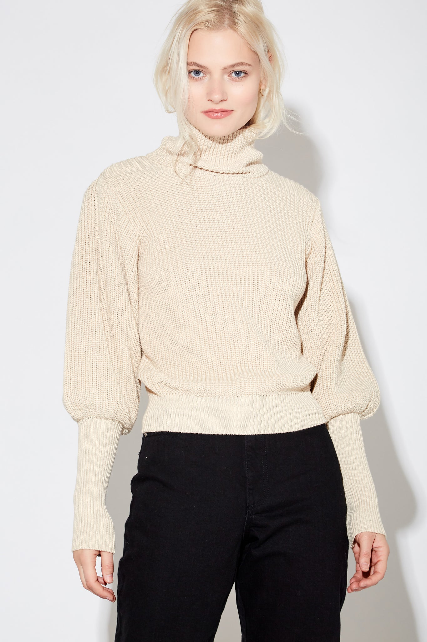 Kane Mock Pullover - Parchment
