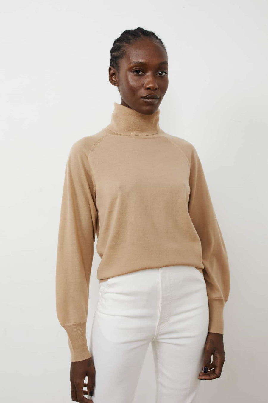 Rosalee Turtleneck-soft fawn