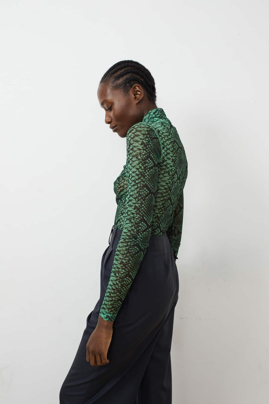 Hota Mesh Turtleneck-green