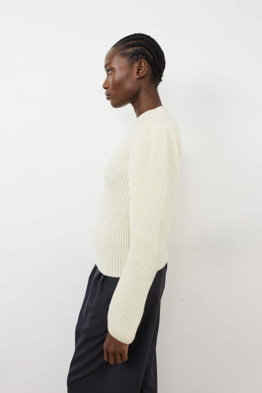 Puffy Sleeves Sweater-chalk