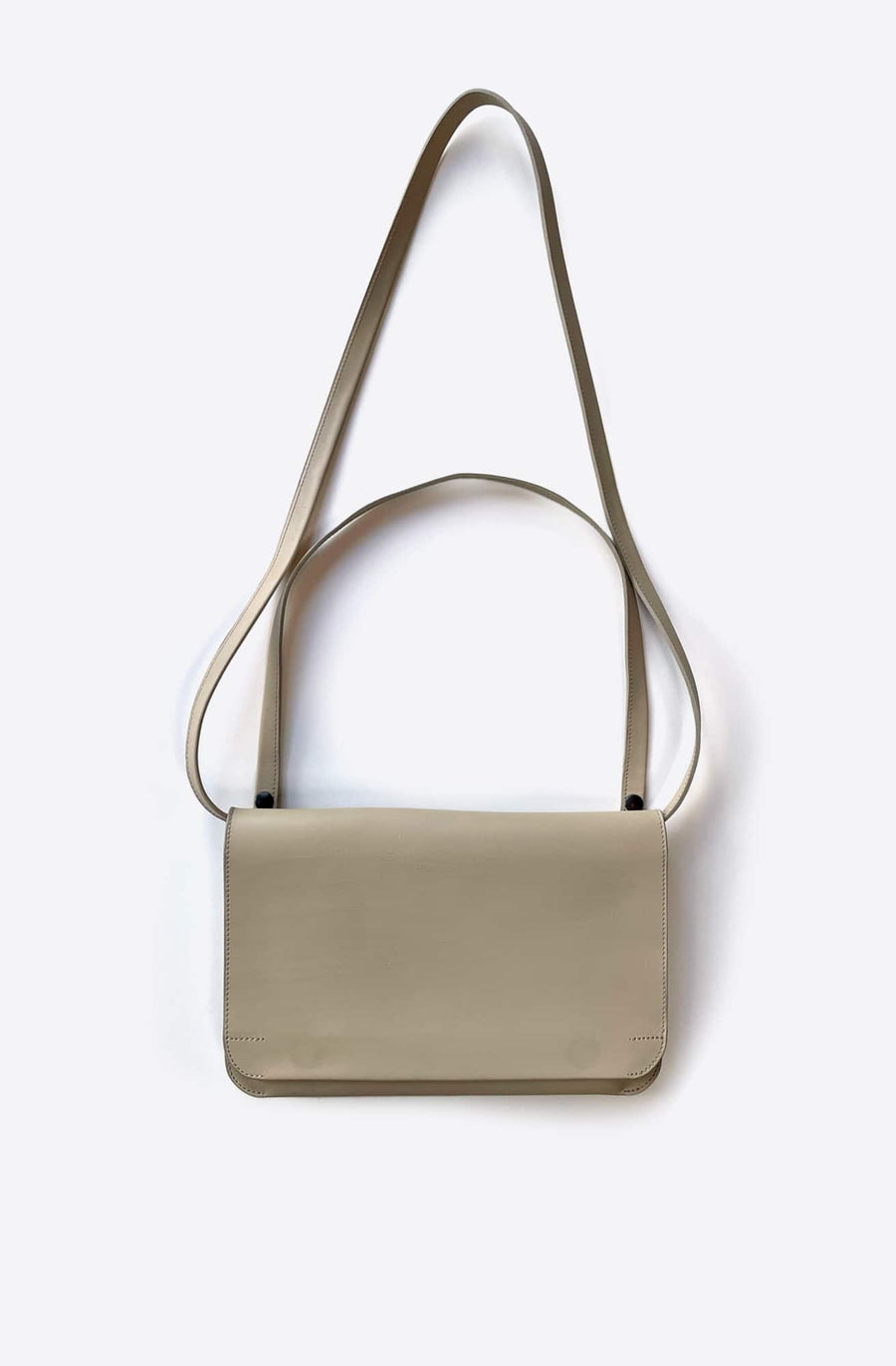 Medium Rounded Shoulder Bag-beige