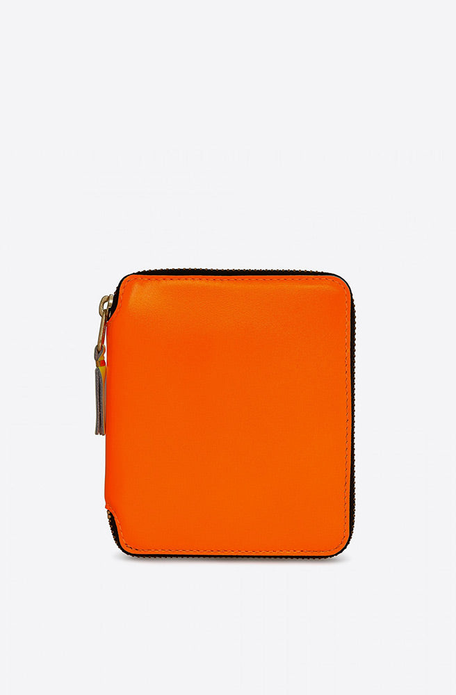 Super Fluo Zip-Around Wallet-light orange