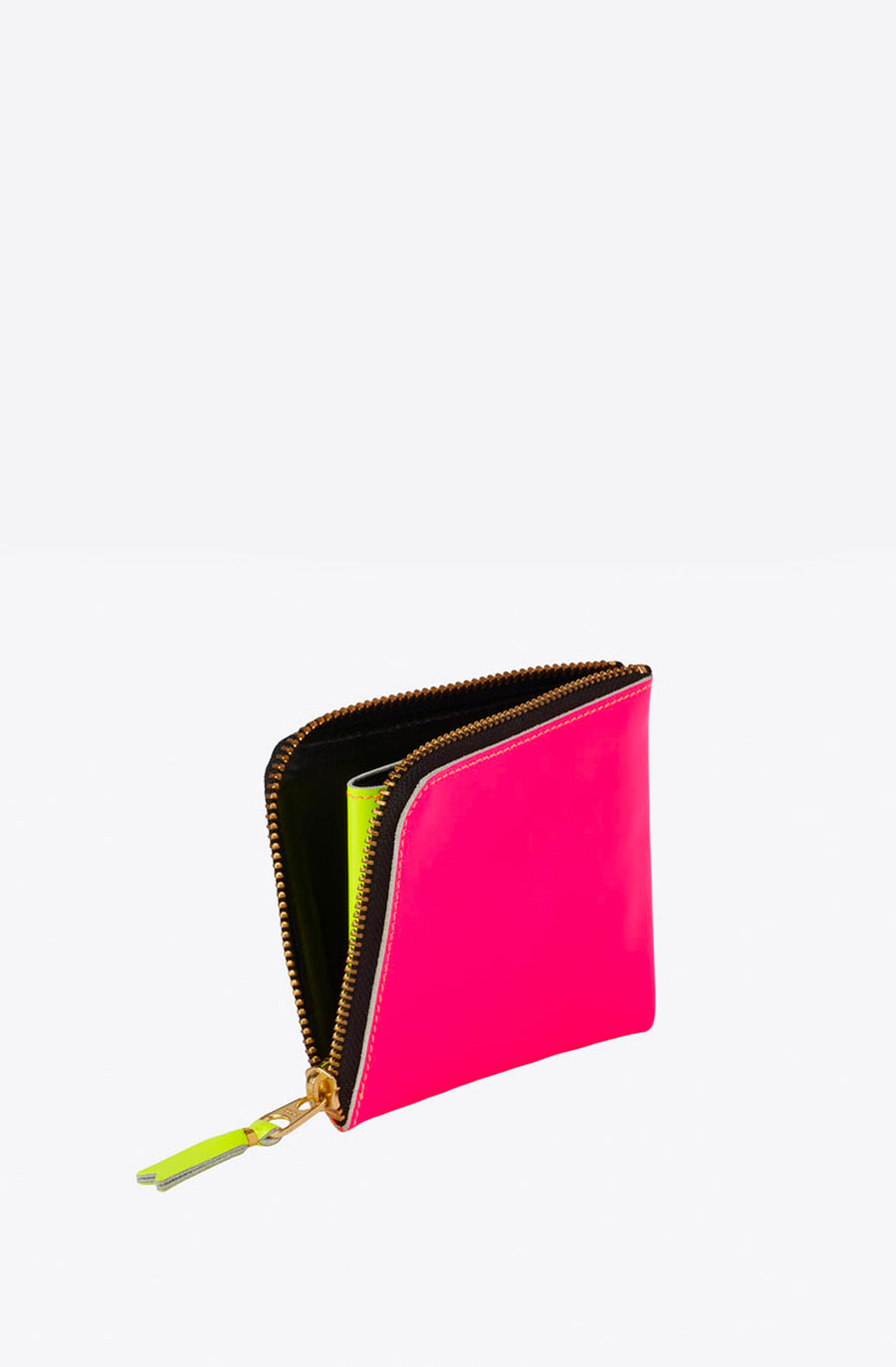 Super Fluo Corner Zip Wallet-light orange/pink