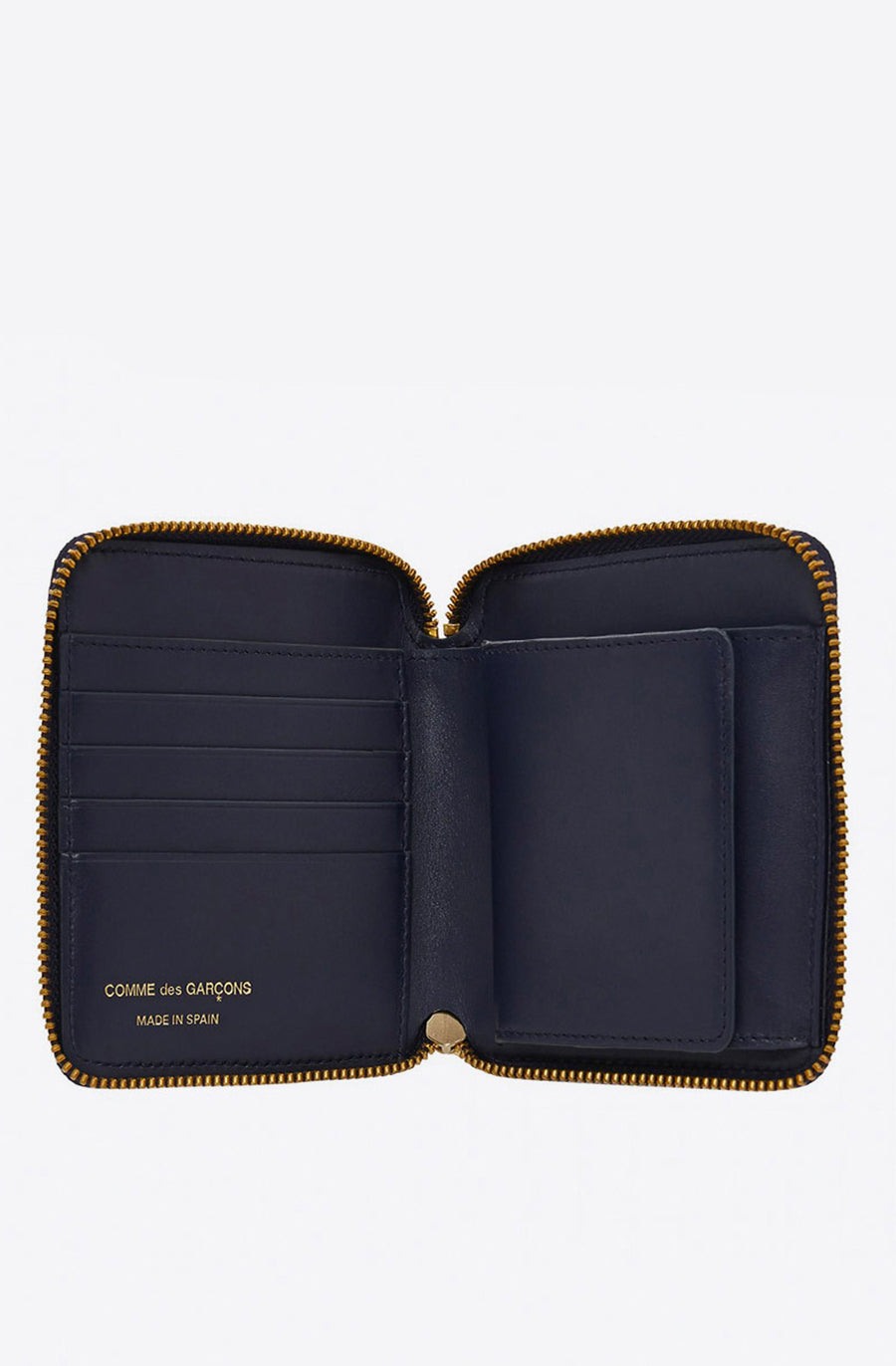Classic Leather Zip-Around Wallet-navy