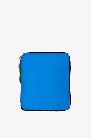 Super Fluo Zip-Around Wallet-blue