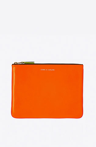 Super Fluo Large Zip Pouch-light orange/pink