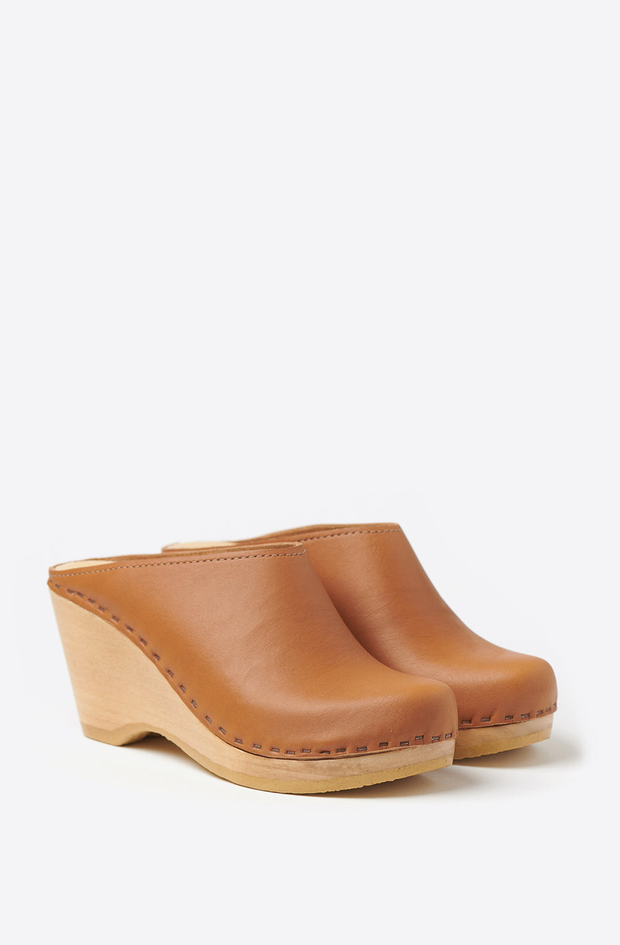 New School Wedge Clog-palomino