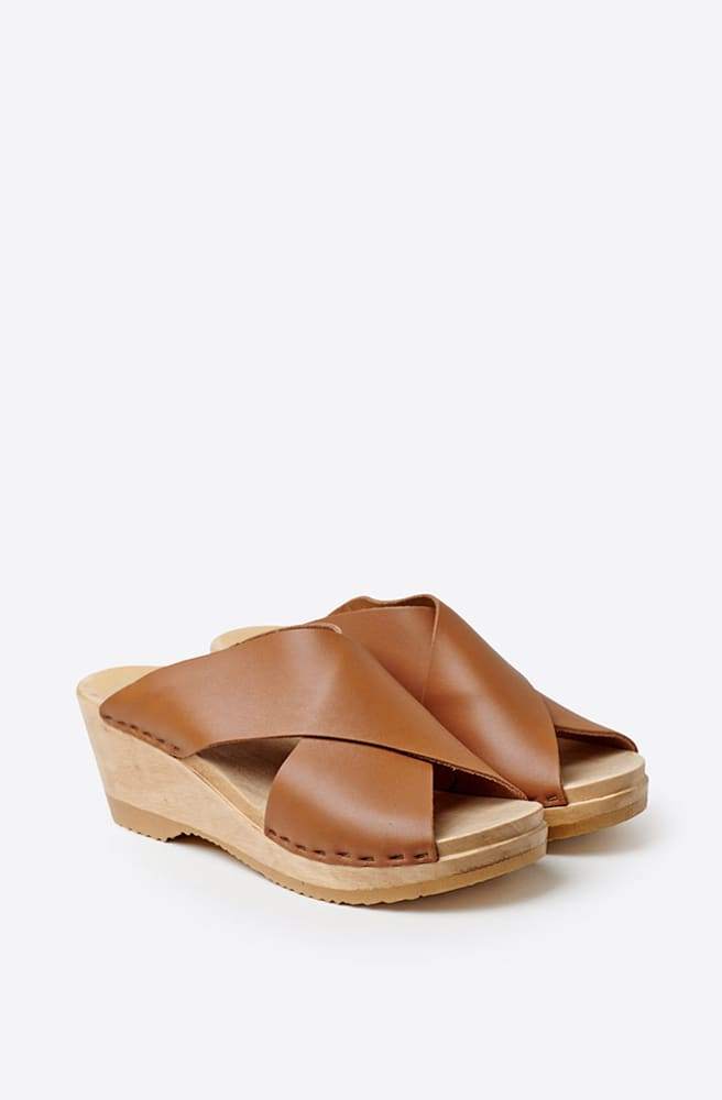 Frida Mid Wedge Clog-palomino