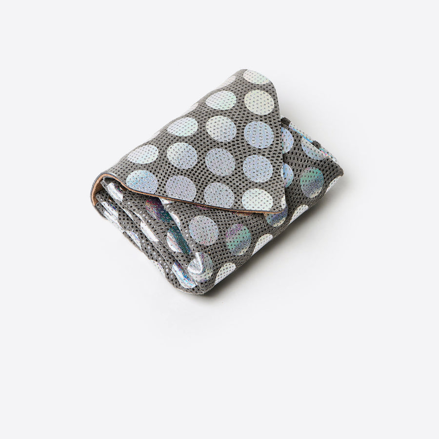 Mini Dot Wallet-silver