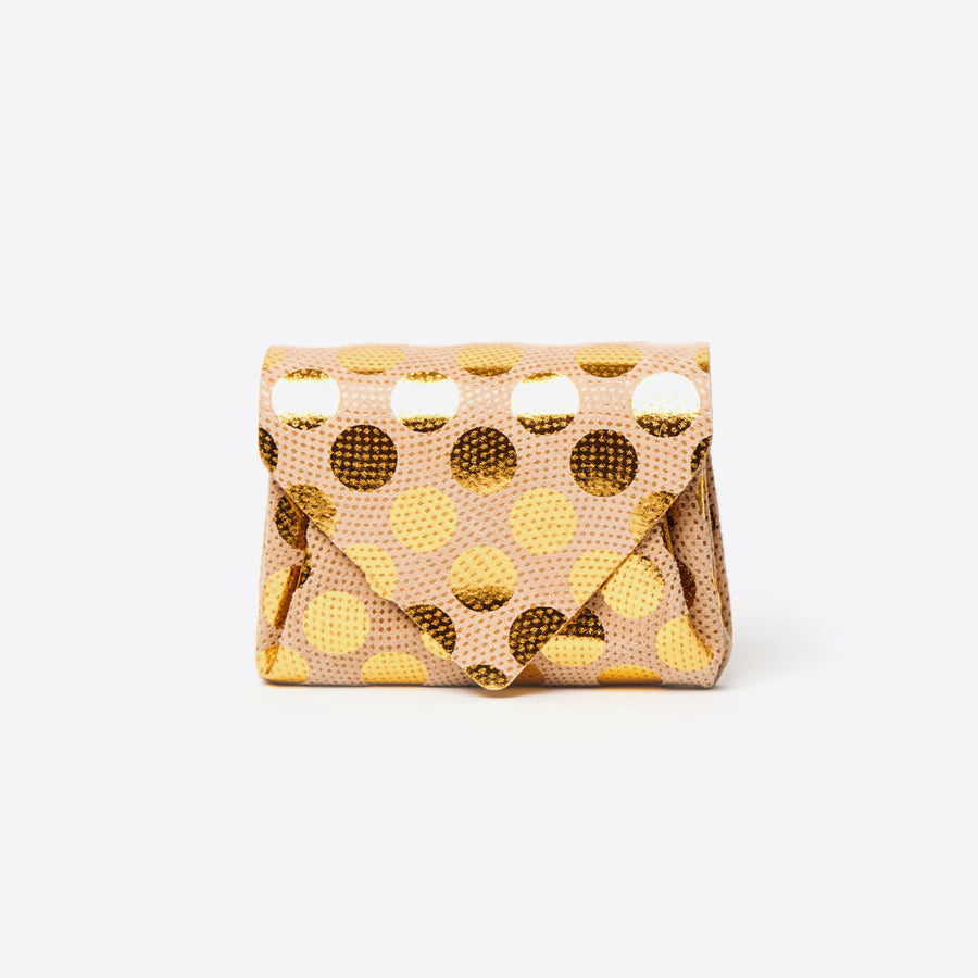 Mini Dot Wallet-gold