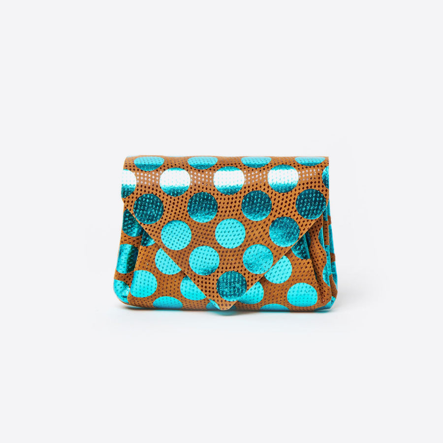 Mini Dot Wallet-blue