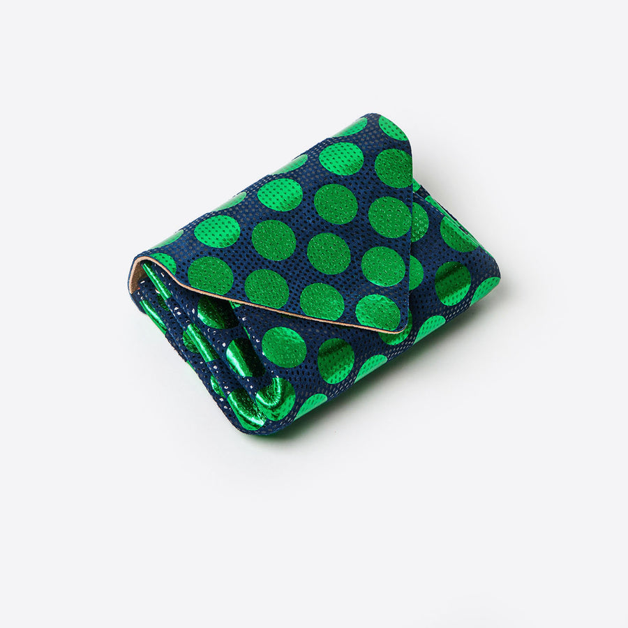Mini Dot Wallet-green