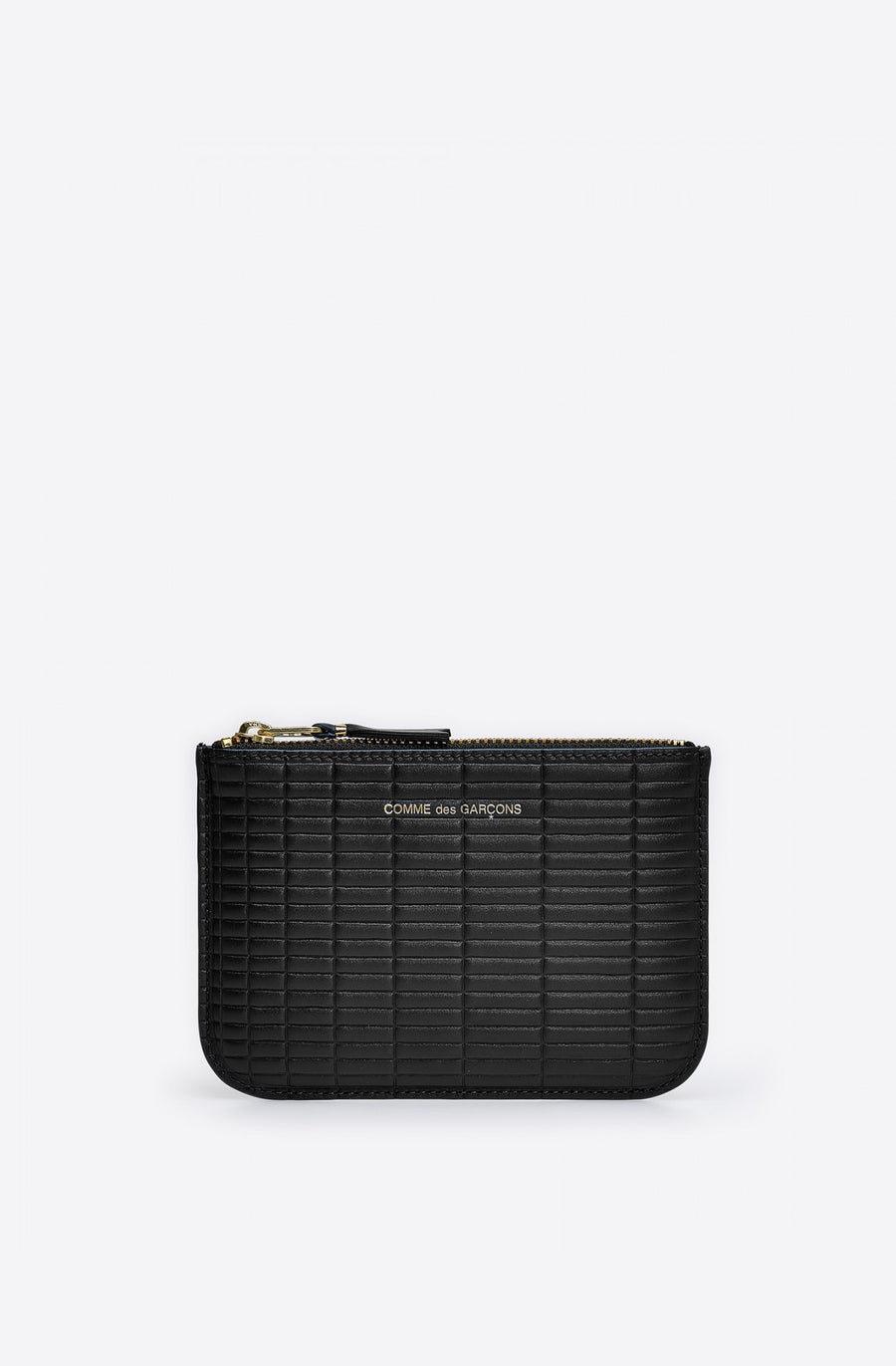 Brick Line Small Zip Pouch-black