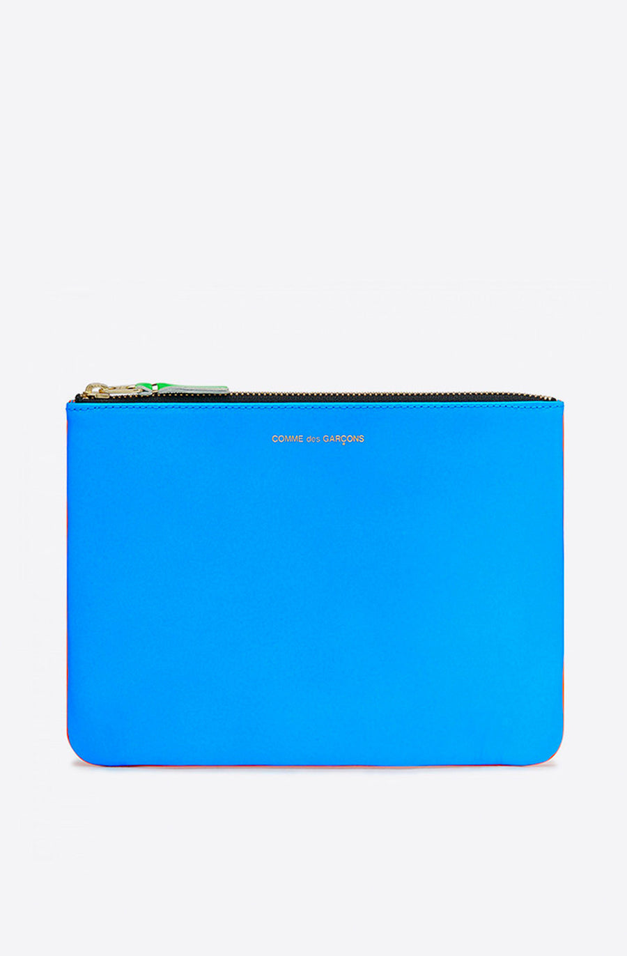 Super Fluo Large Zip Pouch-orange/blue