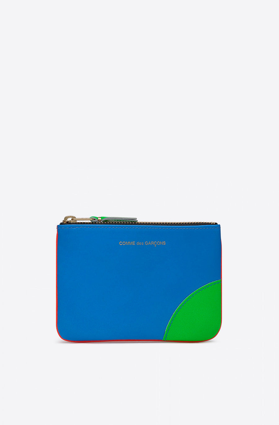 Super Fluo Small Zip Pouch-blue/orange