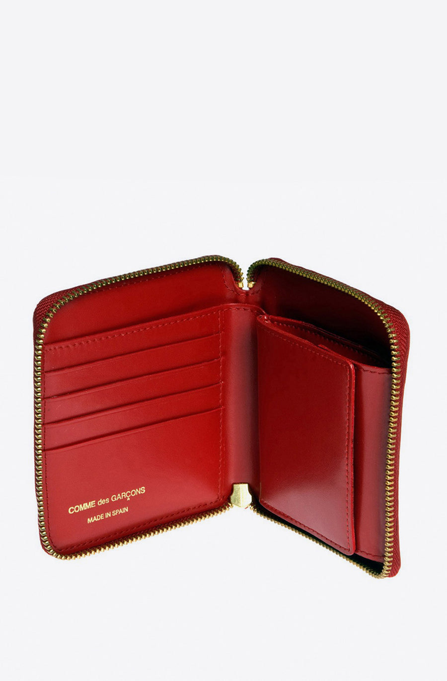 Classic Leather Zip-Around Wallet-red