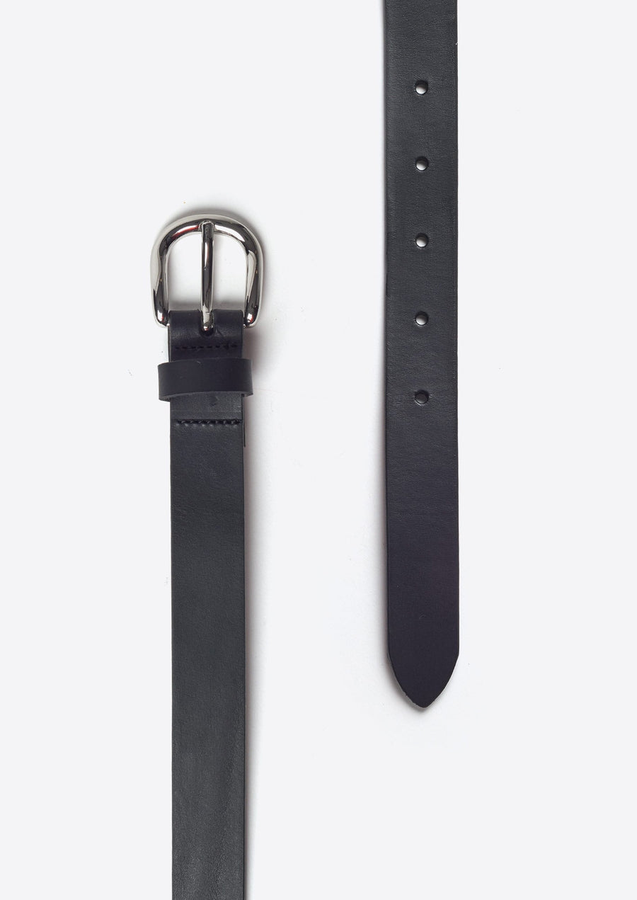 Zap Leather Belt-black