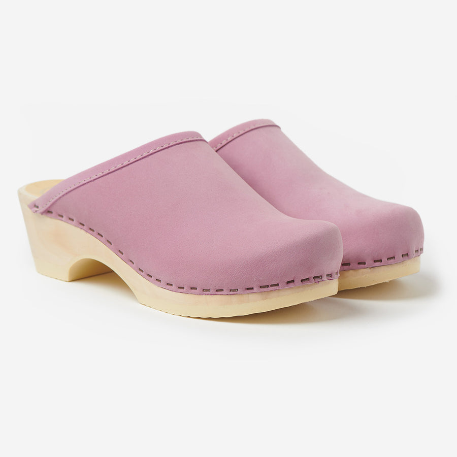 Valley Low Base Clog-violet on white base