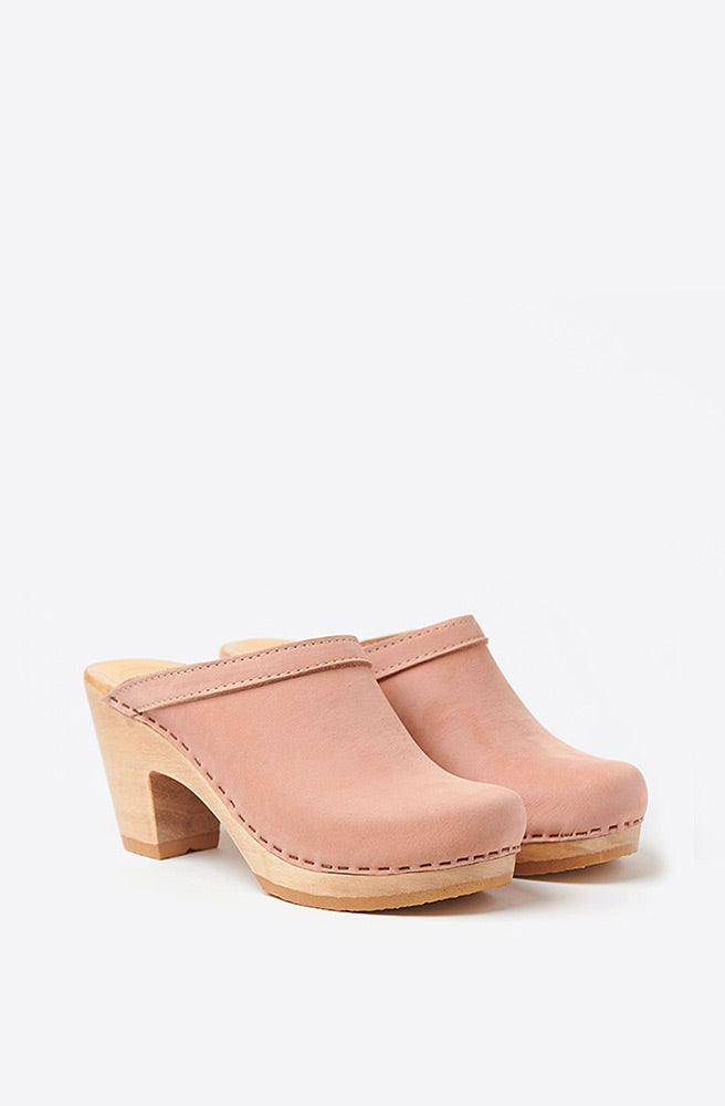 Old School High Heel Clog-pink sand