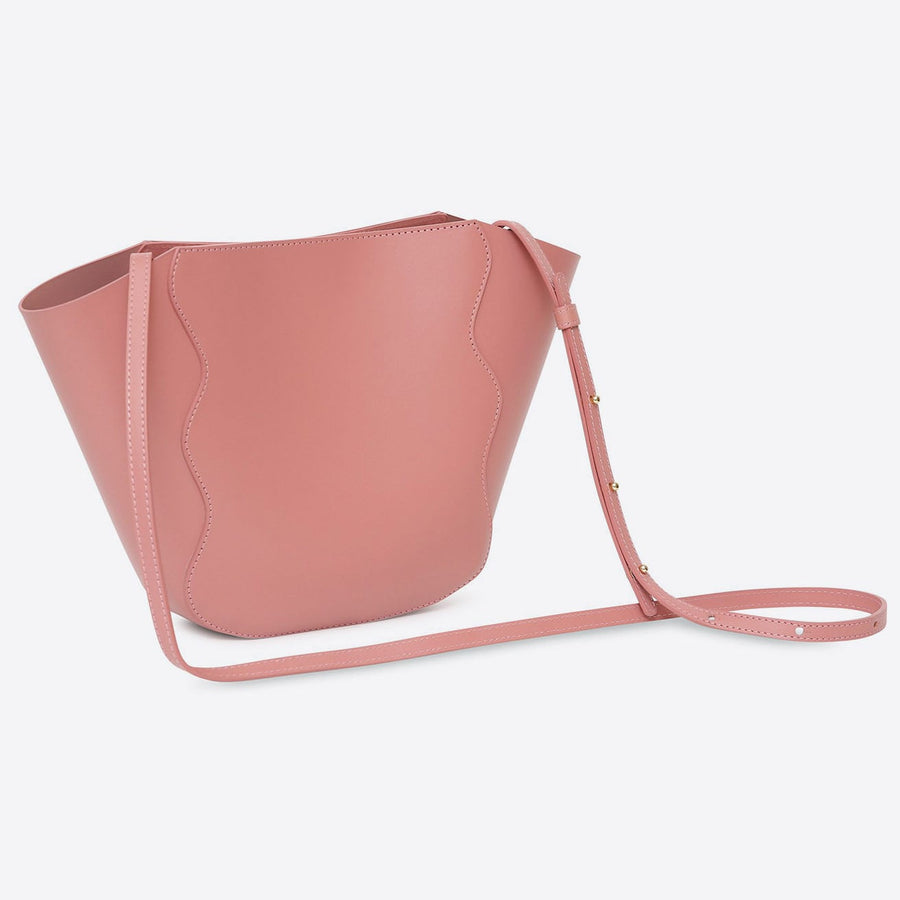 Calf Mini Ocean Tote-blush