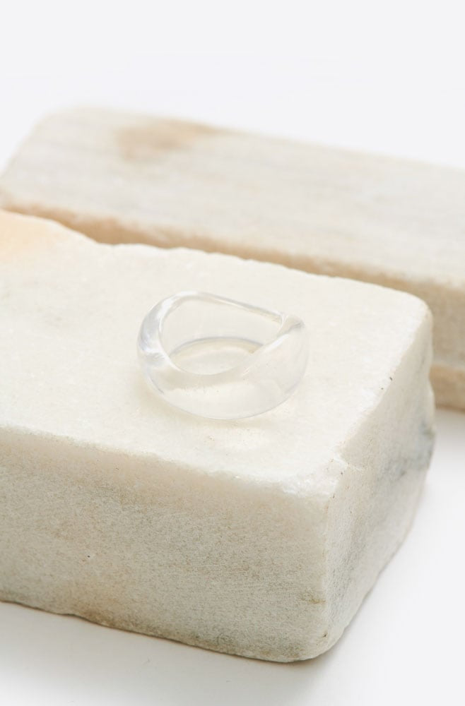 Resin Wave Ring-clear