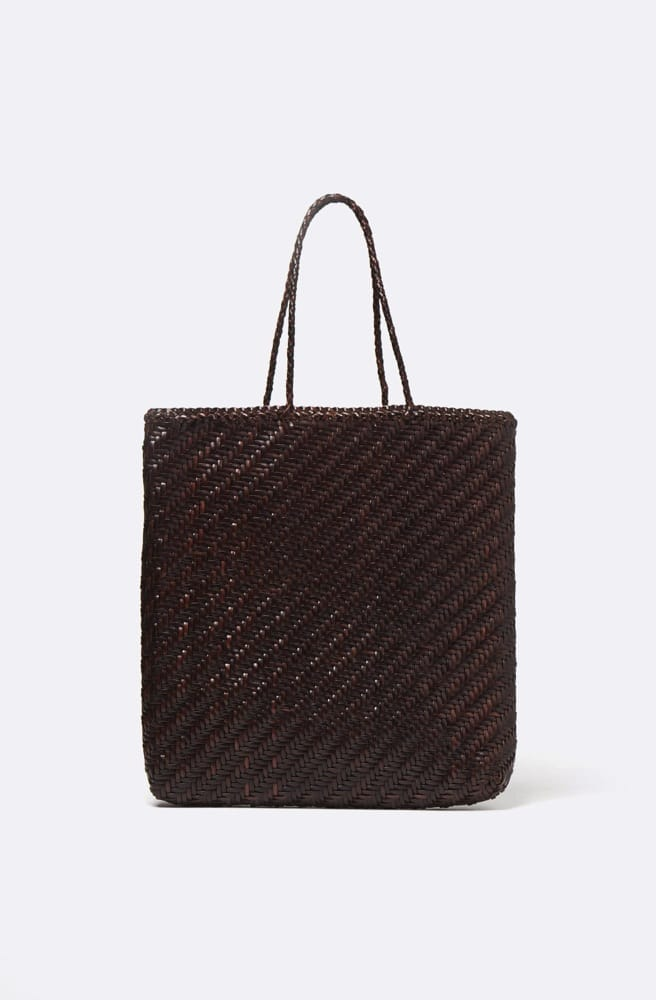 Kete Tote Bag-dark brown