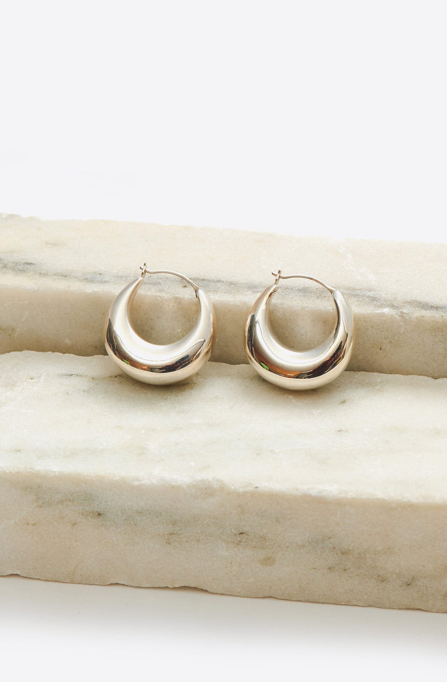 New Classic Cowbell Earrings-sterling silver