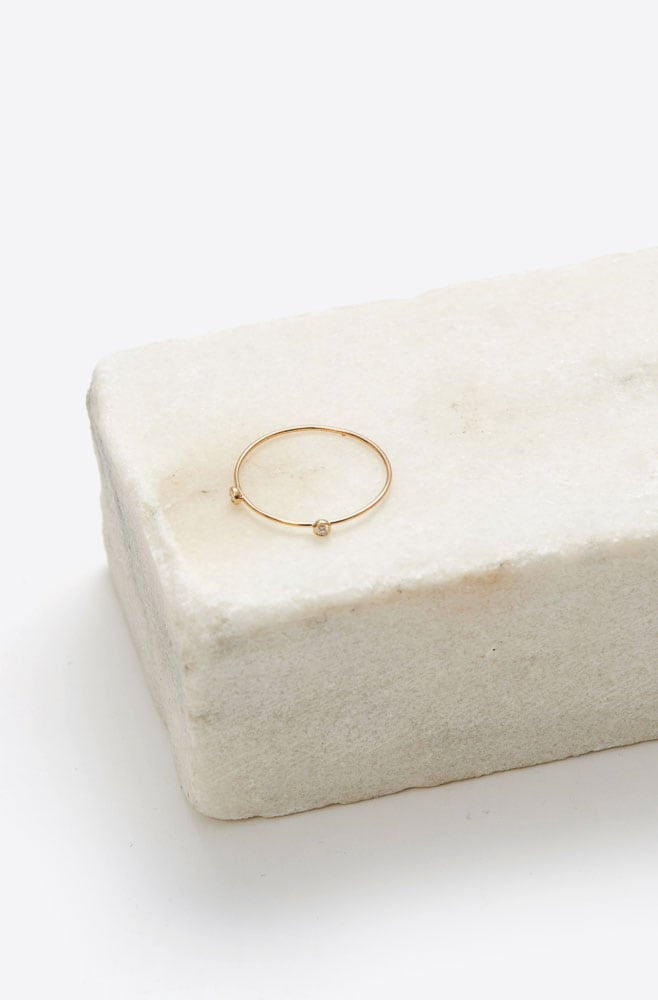 Double Diamond Dot Ring-gold
