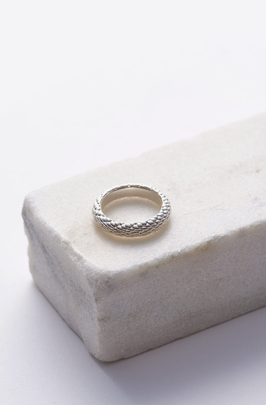 Rope Wide Band-sterling silver