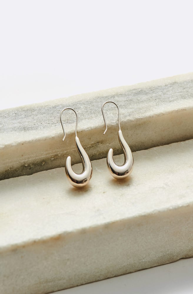 Small Lure Earrings-sterling silver