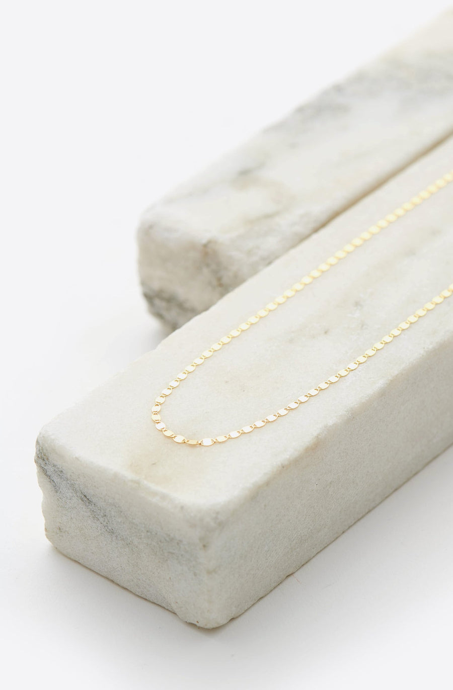 Flat Oval Disc Chain 18-14K yellow gold