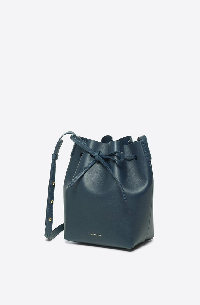 Calf Mini Bucket Bag-midnight blue