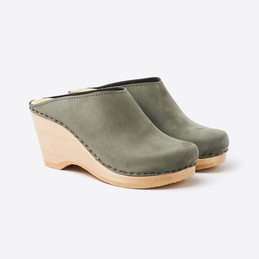 New School Wedge Clog-elephant