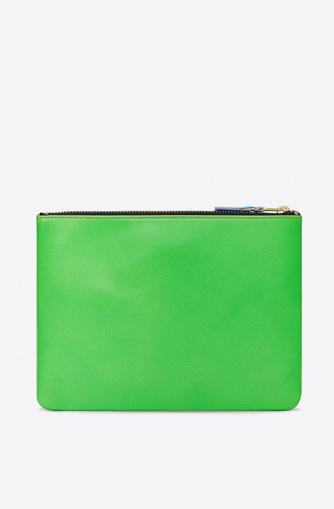 Super Fluo Large Zip Pouch-green/orange