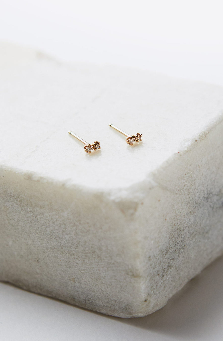 Dimple Earrings-10k yellow gold