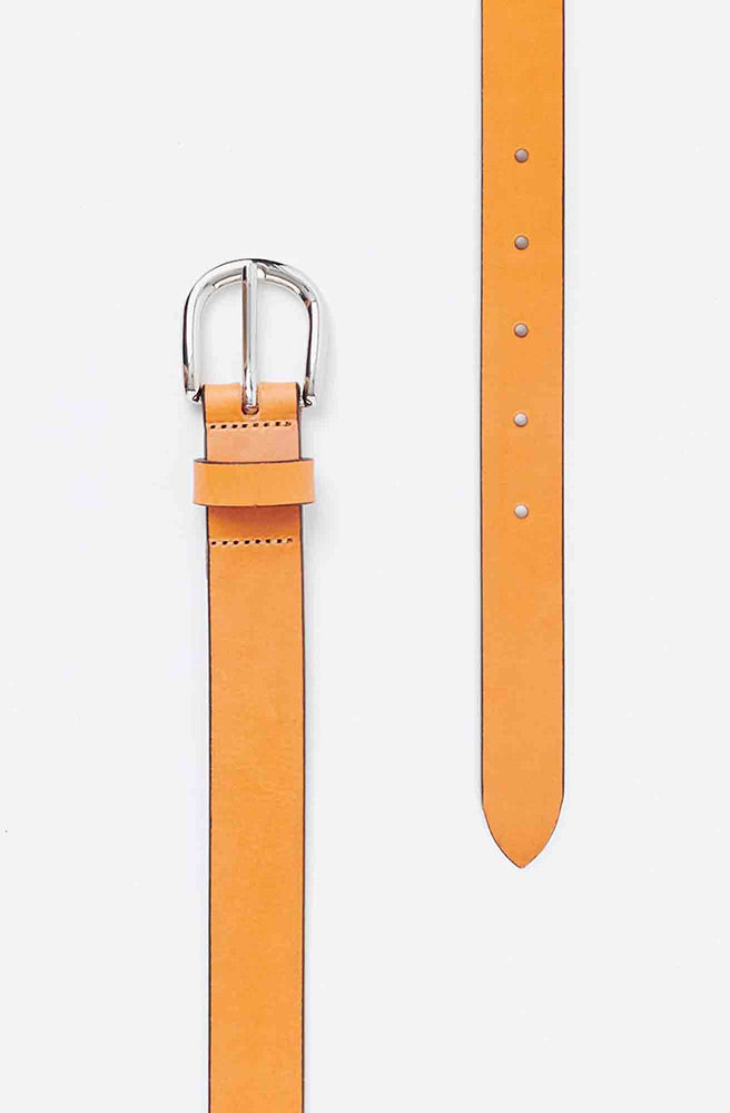 Zap Leather Belt-natural