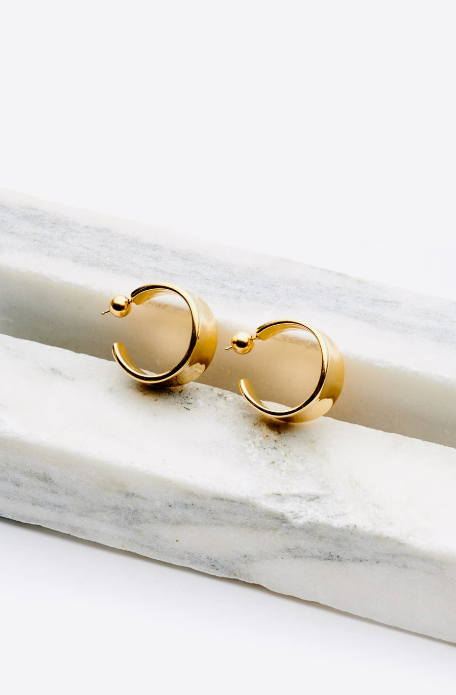 Gold Vermeil Large Wave Hoops-18k yellow gold