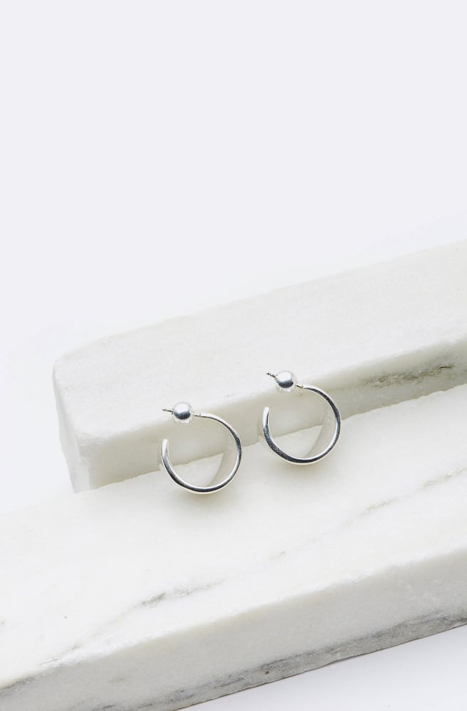 Small Wave Hoops-sterling silver